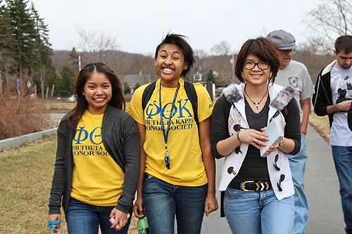3 PTK Students walking towards camera