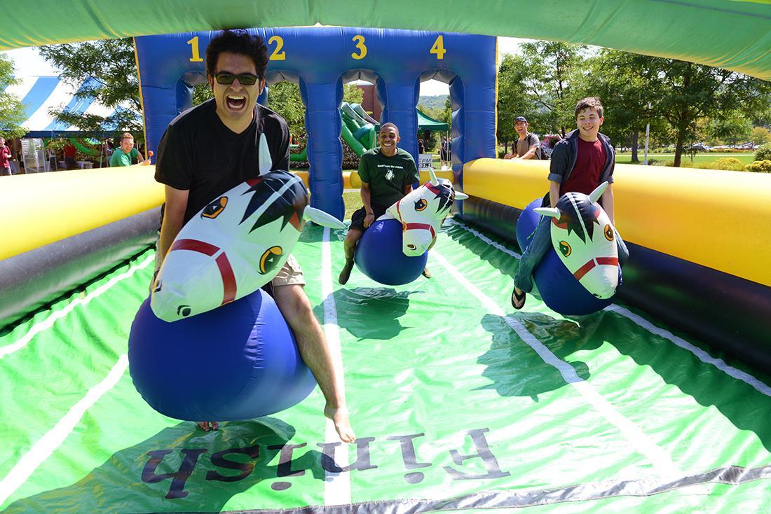Students at a carnival at MVCC