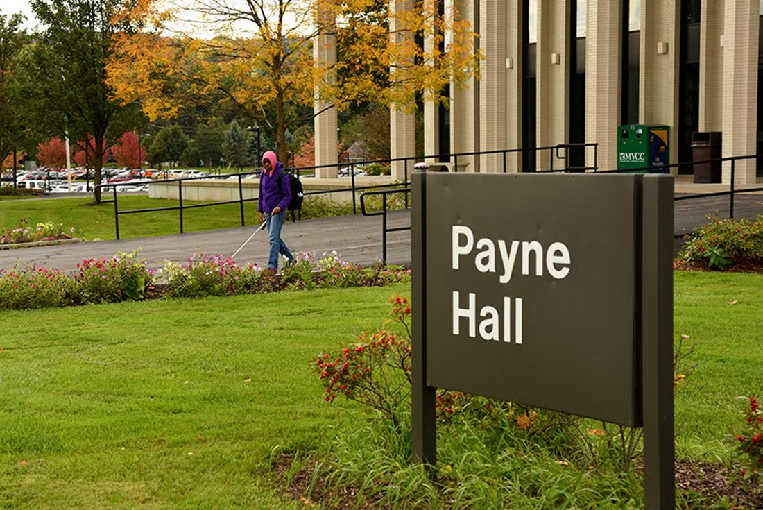 Outside of Payne Hall