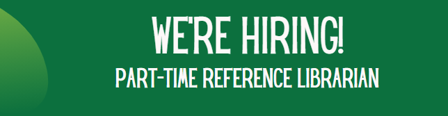 The Utica campus is hiring a PT reference librarian.