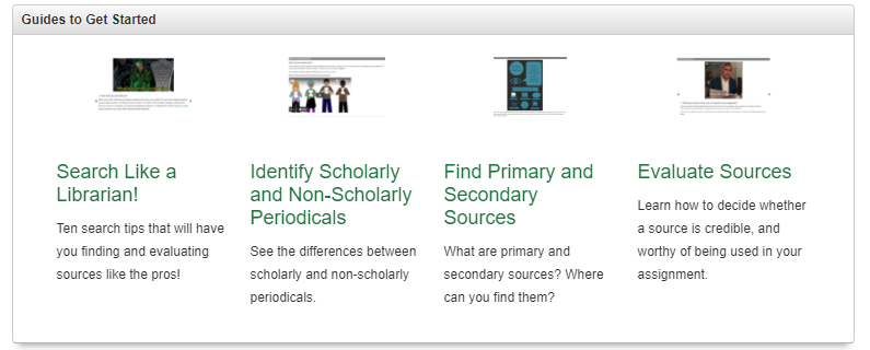 Not sure where to start with your research? Check out the library's research guides for suggested resources, search strategies, and citation help!
