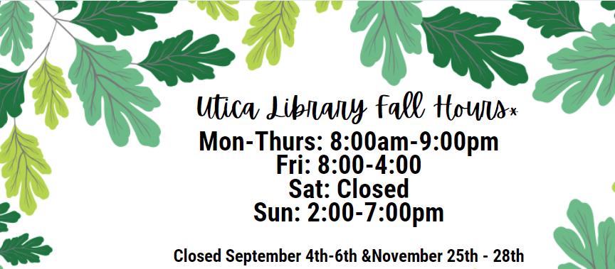 Utica Campus Hours Fall 2021