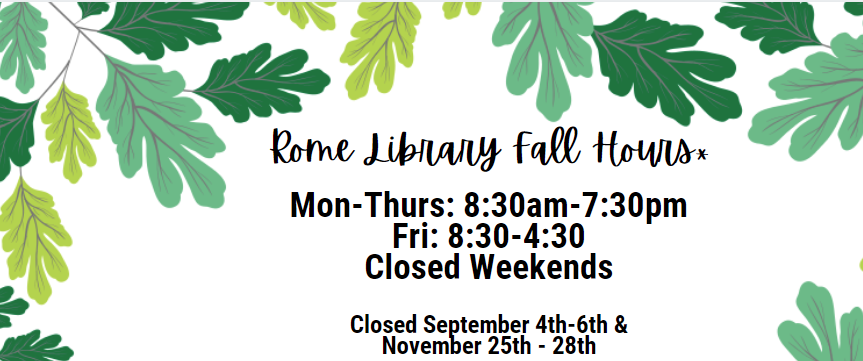 Rome Campus Hours Fall 2021