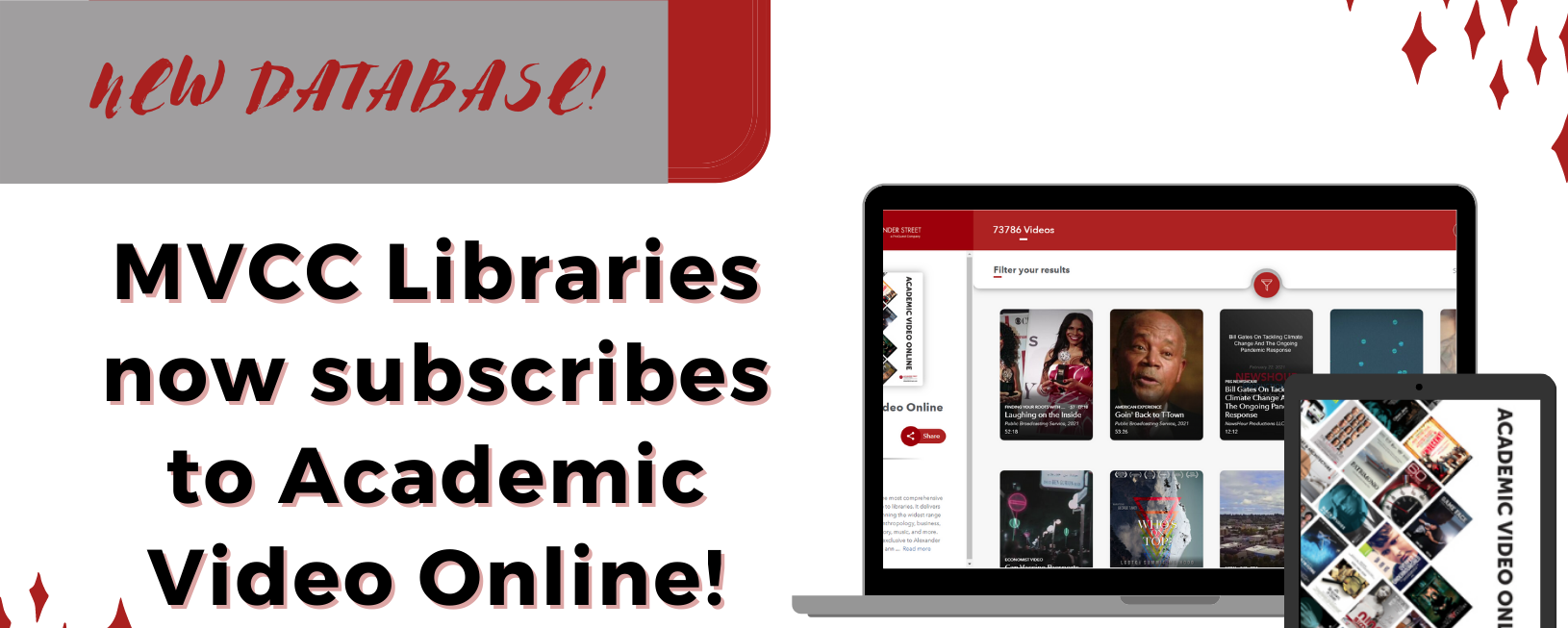 MVCC Libraries now subscribes to Academic Video Online!