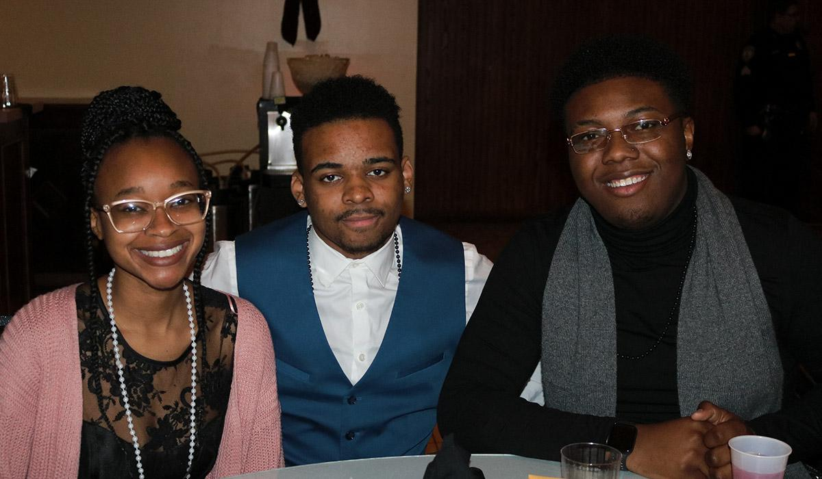 Students at Winter Ball hosted by Program Board
