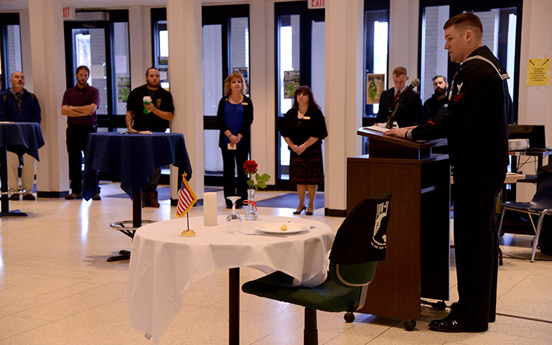POWMIA ceremony with empty table