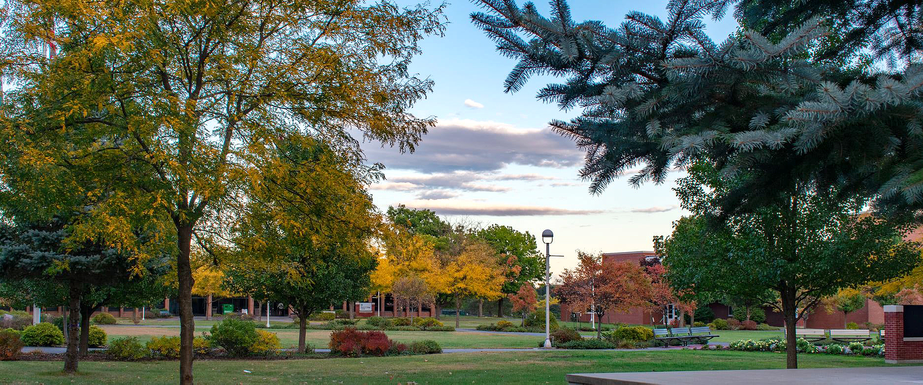 MVCC campus in the fall