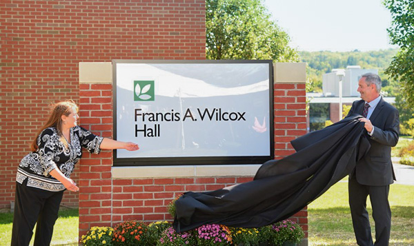 Francis A. Wilcox Hall Sign Unveiling