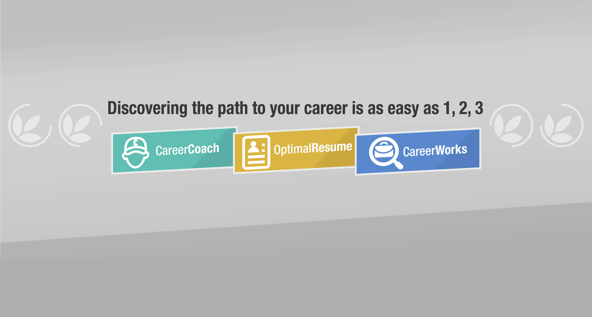 Discovering the path to your career is as easy as 1, 2, 3