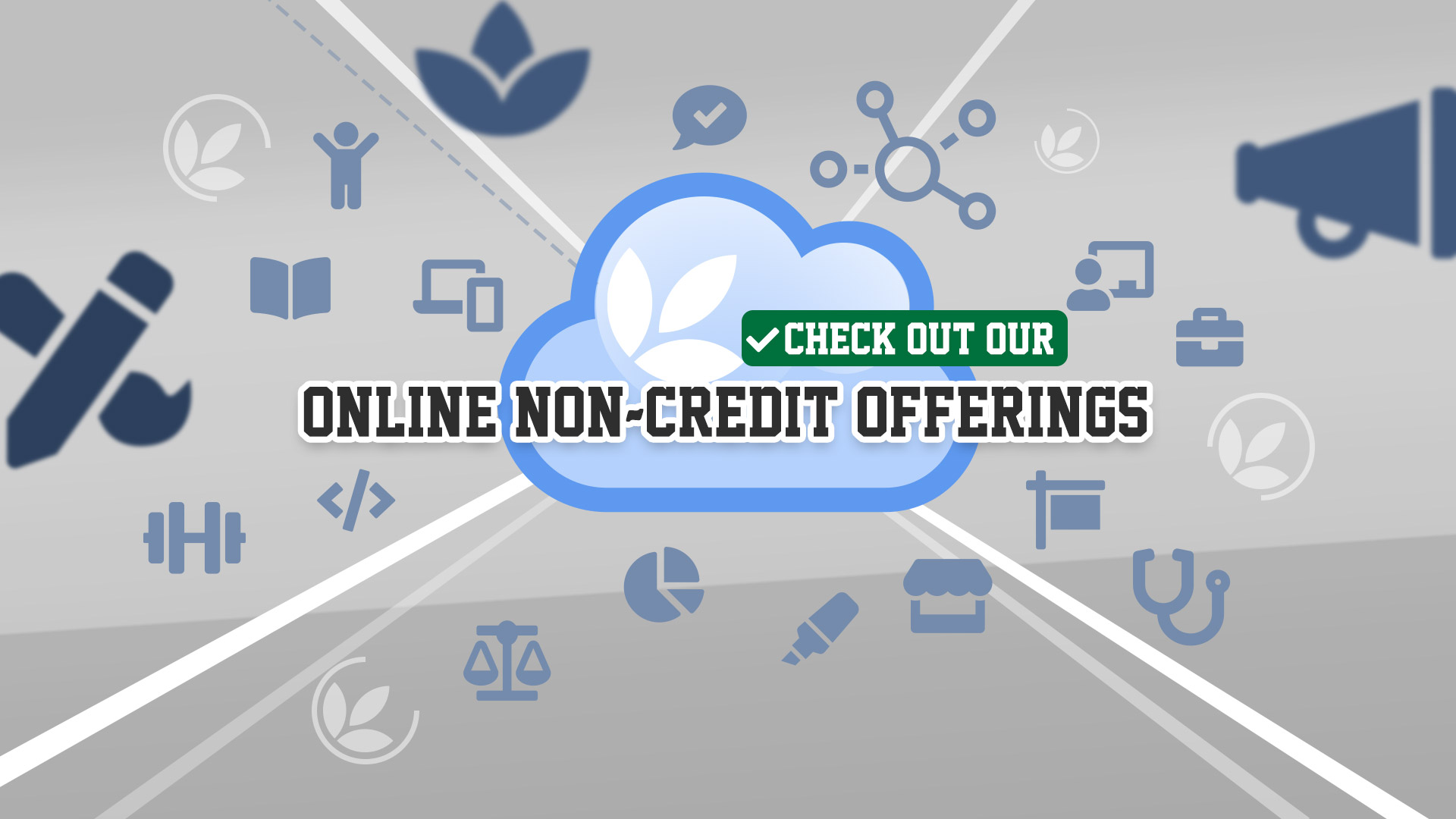 Check out our Online Non-credit offerings at MVCC CCED!