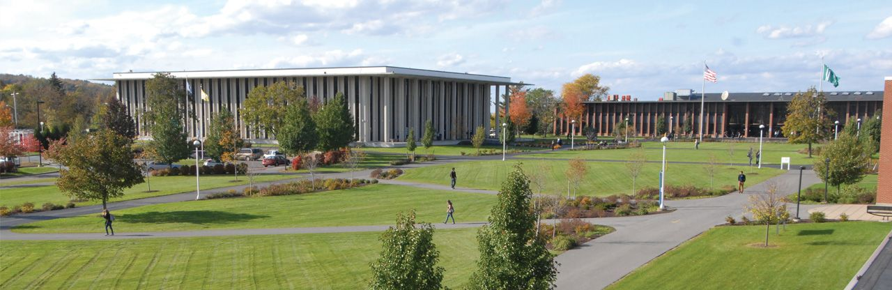 wide view of utica campus quad