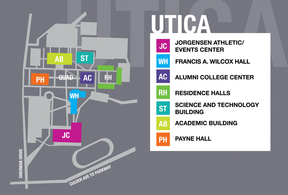 utica college campus map Utica Campus Facilities utica college campus map